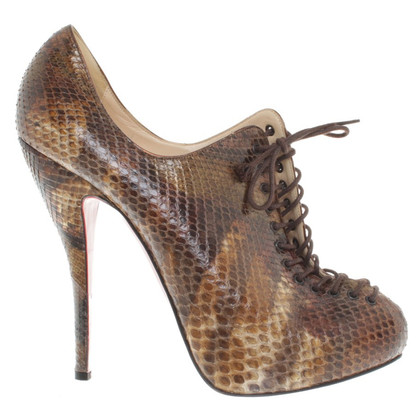 Christian Louboutin Snake leather ankle boots