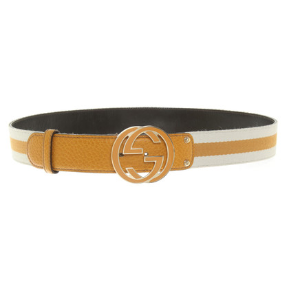 Gucci Belt in yellow / white