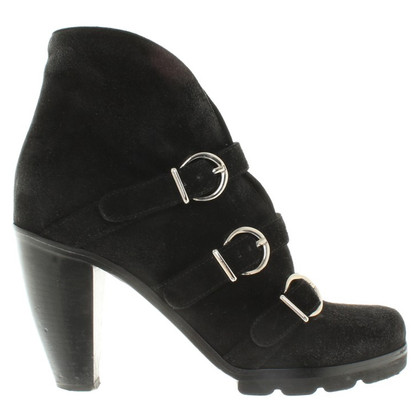 Walter Steiger ankle boots in pelle scamosciata in nero