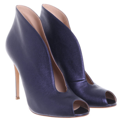 Gianvito Rossi Peeptoes in blu