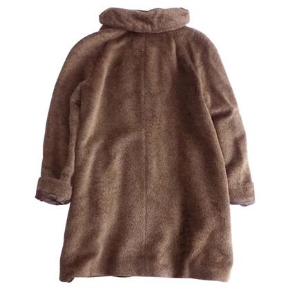 Max Mara Faux fur coat in brown