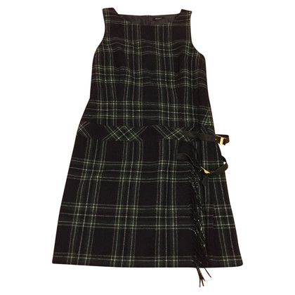 Max & Co Plaid dress with leather detail