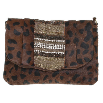 Antik Batik Fur-look handbag