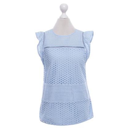 Michael Kors Light blue blouse with lace