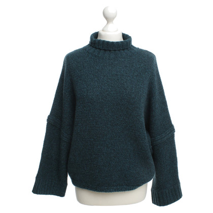 360 Sweater Kaschmir-Pullover in Petrol