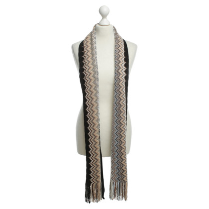 Missoni Knit scarf with Missoni pattern