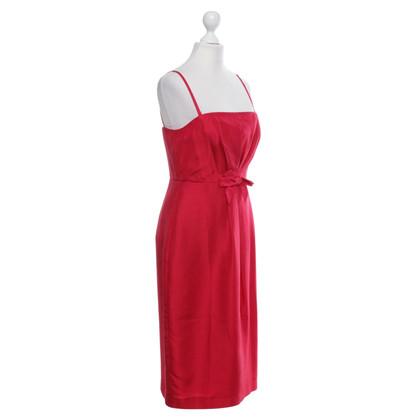 L.K. Bennett abito rosso, seta, formato BRITANNICO 10, 38 EUR