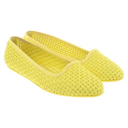 Moncler Ballerinas in yellow