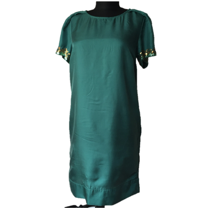 Patrizia Pepe Groene zijden jurk