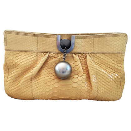 Chloé clutch from phython leather