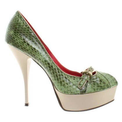 Cesare Paciotti Peeptoes of reptile leather