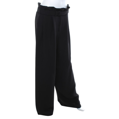 Giorgio Armani Silk trousers in black