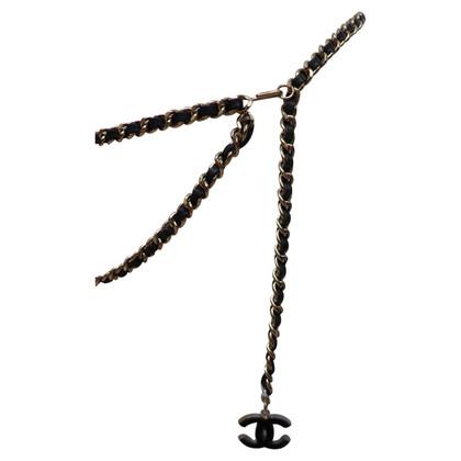 Chanel Kettengürtel mit Logo-Anhänger