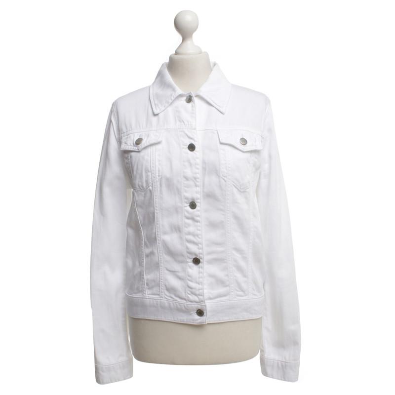 Giubbino di jeans bianco