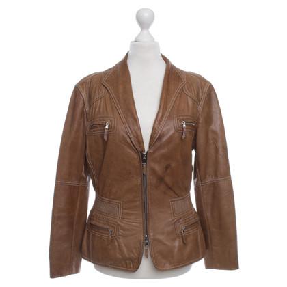 Armani giacca di pelle color cognac