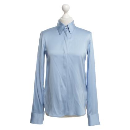 Céline Zijden blouse in lichtblauw