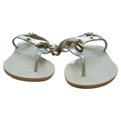 Tod's rubber sandals silver / white