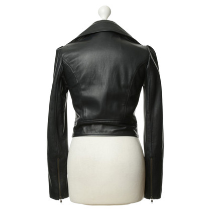 Diane von Furstenberg Black leather jacket