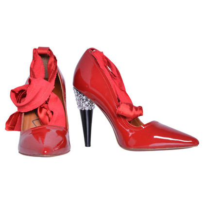 Lanvin for H&M Rote Lackleder-Pumps
