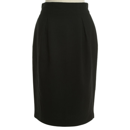 Christian Dior Pencil-skirt with cellar folds