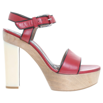 Marni Platform sandals in red