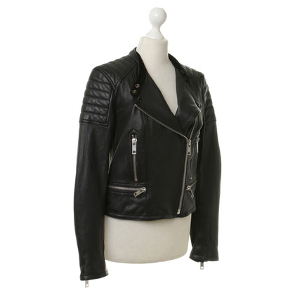 Burberry Leather jacket in black