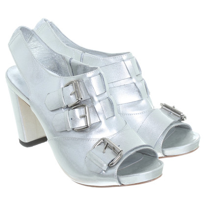DKNY Silver peep-toes