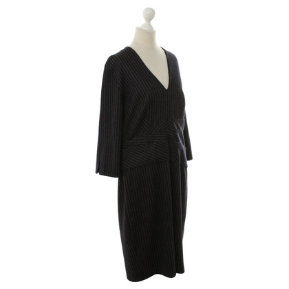 Laurèl Wool dress with Pinstripe