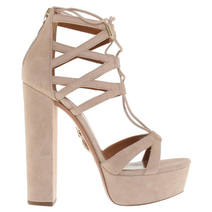 Aquazzura Platform sandals in Nude