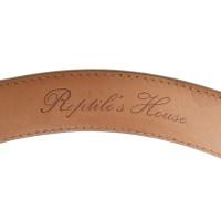 Andere merken Reptiel van House - Python lederen riem