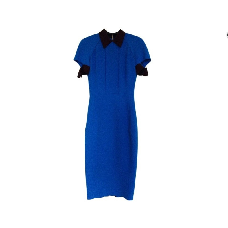 Victoria Beckham Blue Dress