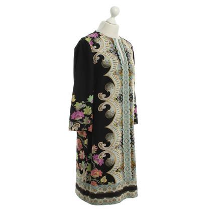 Etro zijden jurk met patroon