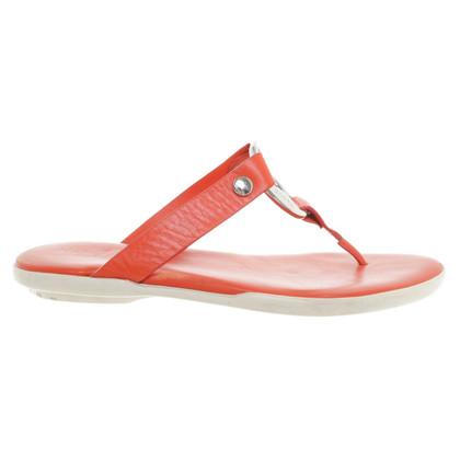 Hogan Teen thong sandalen in het rood