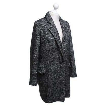 Isabel Marant Etoile Manteau en noir / blanc
