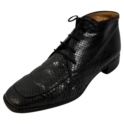 Fratelli Rossetti Lace up shoes with croco structure