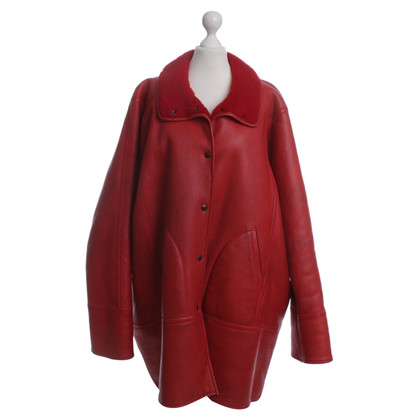 Kenzo Leather coat in red