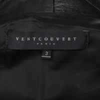 Vent Couvert Giacca in pelle in Black