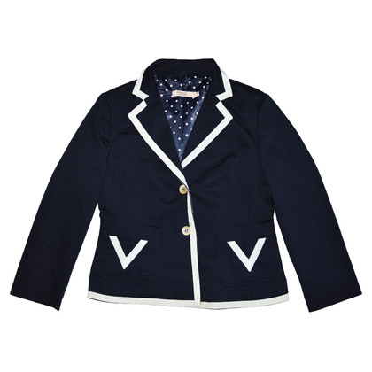 Red Valentino Dark Blue Cotton Blazer