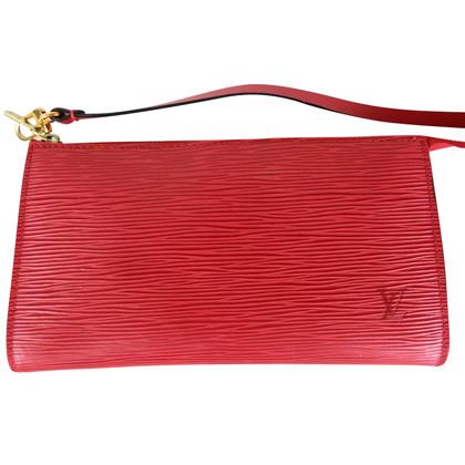 Louis Vuitton Pochette Accessories Epi rosso