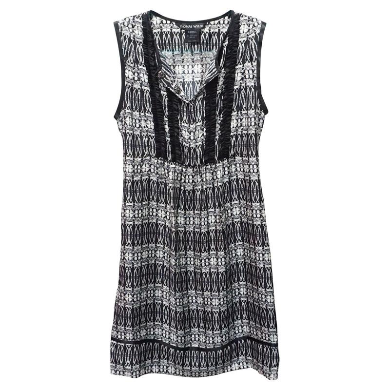 Wylde Seide Kleid Aus Second Thomas Hand E9W2HID