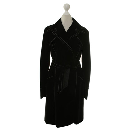 Plein Sud Velvet coat in black