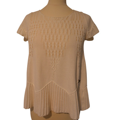Twin-Set Simona Barbieri Short sleeve pullover in cream