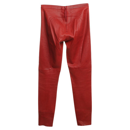 Andere Marke Hose in Rot aus Stretchnappa