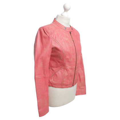 Boss Orange Coral leather jacket