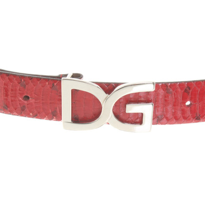 Dolce & Gabbana riem slangenhuid
