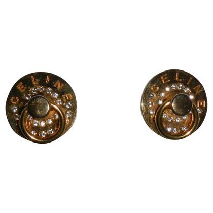 Céline Gold colored ear clips