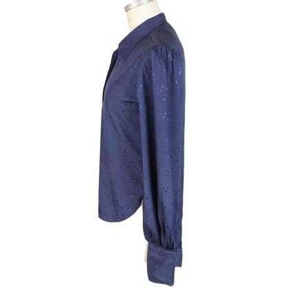 Pierre Balmain Pierre Balmain blauw pois shirt