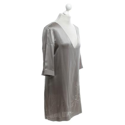 Schumacher Satijnen jurk met kant patroon