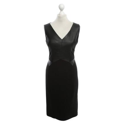 Karen Millen Schede jurk met imitatieleer