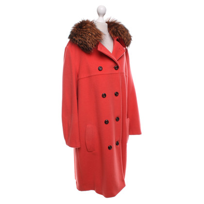 Marc Cain Coat with fox fur collar